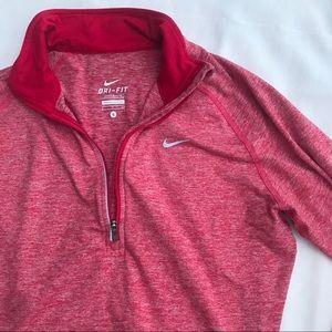 Nike Dri fit half zip running top